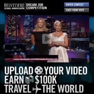 Be Belvedere's brand ambassador