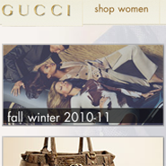 Gucci's digital flagship homepage