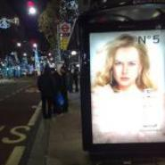 Chanel bus shelter advertisement