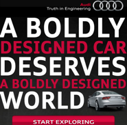 A boldly designed car deserved a boldly designed world