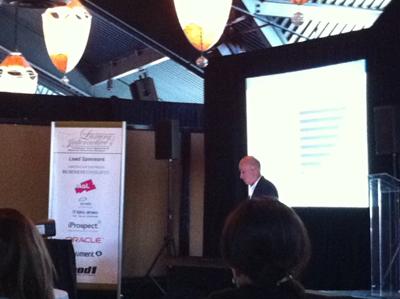 Milton Pedraza speaking at Luxury Interactive