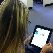 Affluent consumer with iPad