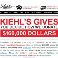 Kiehl's Gives email