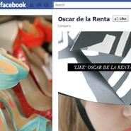 Oscar de la Renta uses Facebook