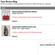 Bloomingdales' online brown bag