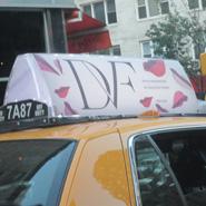 DVF on a NY taxi