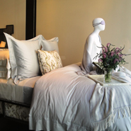 Frette's curated window display