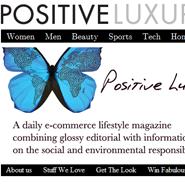 Positive Luxury homepage