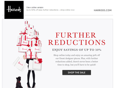 Creative Relevant Email Marketing To Drive Post Holiday Luxury Purchases