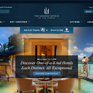 Leading Hotels of the World's simplified site