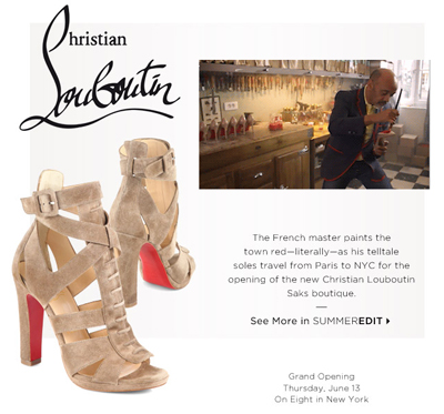 046527f05a50 Saks lures digital audience to first Louboutin US in-store boutique