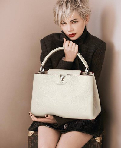 louis vuitton fall campaign featuring michelle williams