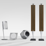 From left to right, Bang Olufsen's BeoLab 17, 18 & 19
