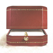Cartier red jewelry box