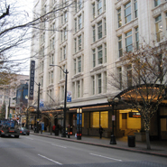 Exterior of Nordstrom Seattle flagship store