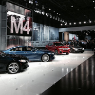 BMW display area at NY Auto Show