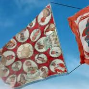 Video still from Hermès scarf app promotion