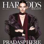 The cover of Harrods Magazine May 2014 as seen on a tablet