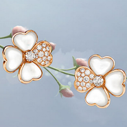 Earrings from Van Cleef & Aprels' 2014 Cosmos collection