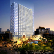 Exterior rendering of the W Beijing