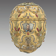 Faberge egg on display at