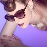 Kiesza campaign image for Fendi's Color Block Sunglasses