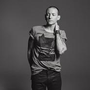 Chester Bennington modeling the capsule collection