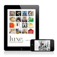 Luxe Interiors + Design on Apple mobile devices
