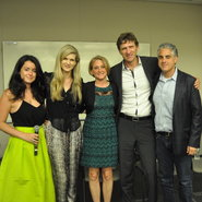 From left to right: Elizabeth Paton, U.S. fashion and luxury correspondent for the Financial Times; Sarah Wellersdorf, principal at the Boston Consulting Group: Debbie Kiederer, principal at Chalkdust: Frank Zimmerman, CEO of Arvato NA: and Aaron Mittman, CEO of Sonic Notify. All spoke on a luxury shopping panel last month hosted by The Associated Press