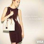 Promotional image for Borderfree's Visa partnership