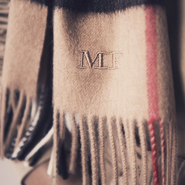 Burberry's monogrammed Heritage scarf