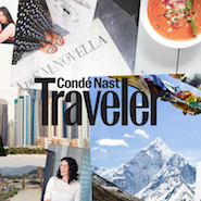 Promotional image for the Condé Nast Traveler redesign created by Louisa Cannell