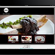 Waldorf Astoria Orlando's iPad menu