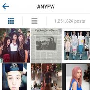 Fashion week hashtags