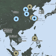 Map of Fairmont properties in China