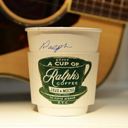 Mr. Lauren's cup of Ralph's Coffee