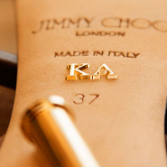 Jimmy Choo's made-to-measure monogramming