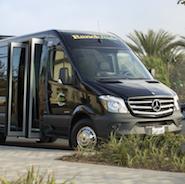 14-seat Mercedes-Benz Sprinter passenger shuttle