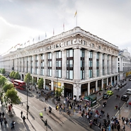 Exterior of Selfridges' Oxford Street store; photo credit Andrew Meredith