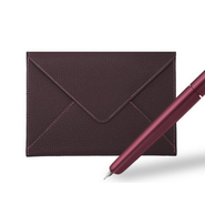 Hermès' Nautilus pen and goatskin envelope