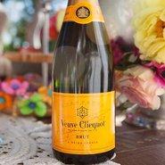 A bottle of Veuve Clicquot Champagne