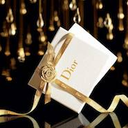 "Dior ""Art of Gifting"" campaign image"