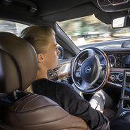 Mercedes autonomously driving car