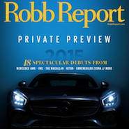 Robb Report's January 2015 cover