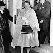 Grace Kelly poses with iconic Hermes Kelly Bag