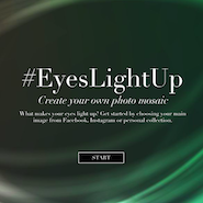 #Eyeslightup website where users can make photo mosaic