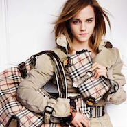 Burberry  campaign starring British actress Emma Watson