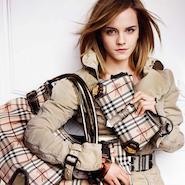 Burberry  campaign starring British actress Emma Watson