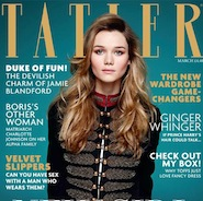 Tatler's March 2015 cover