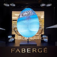 Fabergé 3D window display at Harrods